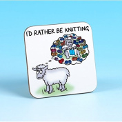 Vanessa Bee Id Rather be Knitting Knitters Coaster