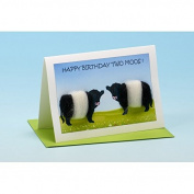 Vanessa Bee Happy Birthday Two Moos Greeting Card