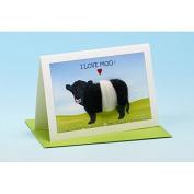 Vanessa Bee I Love Moo Greeting Card