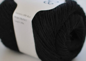 Rosecolor 1 skein 60ml Hand Dyed Gradient Yarn - 100% Merino Wool for Knitting Artcraft Black (11) by FLORAVOGUE