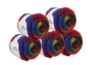 Rosecolor Hand Dyed Gradient Wool Yarn - Rainbow (5 Balls