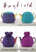 Hayfield Home Tea Cosies With Wool Knitting Pattern 7814 DK