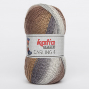 Katia Darling 4 Socks Colour 61 marrones/Grises) – Sock Wool Blend Not Only To Knit Socks