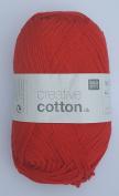 RICO CREATIVE COTTON DK HAND KNITTING YARN - 50g 08 Red