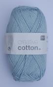 RICO CREATIVE COTTON DK HAND KNITTING YARN - 50g 11 Light Blue