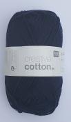 RICO CREATIVE COTTON DK HAND KNITTING YARN - 50g 13 Dark Blue