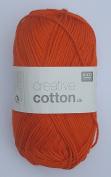 RICO CREATIVE COTTON DK HAND KNITTING YARN - 50g 07 Orange