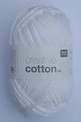 RICO CREATIVE COTTON DK HAND KNITTING YARN - 50g 01 White