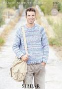 Sirdar Mens Sweater Faroe Knitting Pattern 9787 Super Chunky