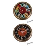 MonkeyJack 2 Pieces Vintage Clock Cabinet Door Drawer Pull Handles Closet Knob 35mm