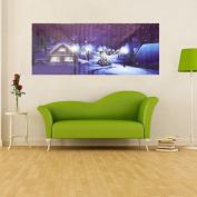 Village Christmas Night Frameless Painting Living Room Bedroom Wall Painting Home Decor