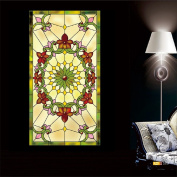 OstepDecor Custom Translucent Non-Adhesive Frosted Stained Glass Window Films 30cm W x 90cm H