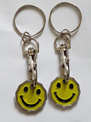 2 X FABULOUZ NEW SHAPE 12 Edge Sided Trolley Token £1 Coin Pound Shopping Key Ring Clasp Supermarket Locker Gift