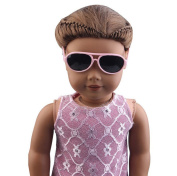 Doll Glasses, Hotsellhome Stylish Plastic Frame Glasses Sunglasses for 46cm American Girl Doll