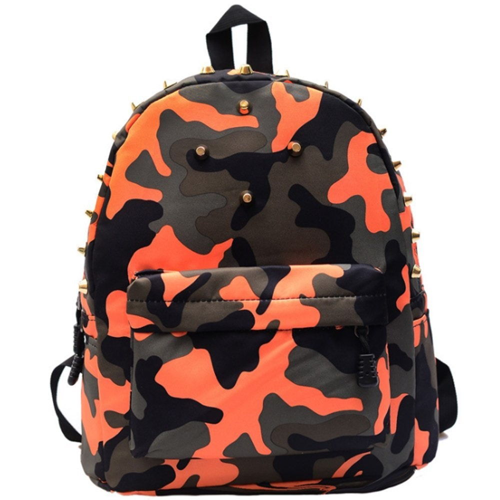 Uniui Fashion Rivet Camouflage Nylon Orange Backpack Kids Travel Rucksack –  Perfect School Bag for 5-7 year old Boys Girls (Orange) by Uniui - Shop  Online ... 80391c26976b5