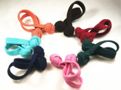 Set of 2 scrunchie with Knote Braid Hair Band Bands – Very Strong, Random Colour