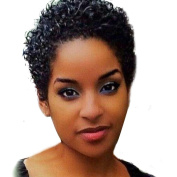 WYXlink Women Short Black Front Curly Hairstyle Synthetic Hair Wigs For Black Women