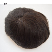 Fantasy Beauty Hair Replacement Systems Mono Lace And Pu Poly Around Natural Colour Hair Toupee Mens Hair Piece Stock (20cm x 25cm , #2