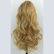 Elegant Hair - 60cm PONYTAIL Clip in Hair Piece WAVY Golden Blonde #26 REVERSIBLE Claw Clip -Looks and feels like real hair