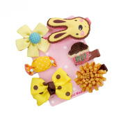 Profusion Circle Baby Girls Bowknot Flower Multi-Style Hair Clip Hairpin Set
