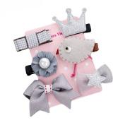 Yosemite Cute Baby Girls Plant Animal Flower Bowknot Princess Hair Clip Hairpin Set