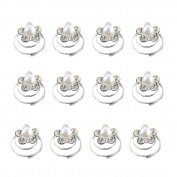 ChenRui(TM)10 X Spiral twist diamond Bridal Wedding Clip Crystal Rhinestones Metal Spiral Hair Pin
