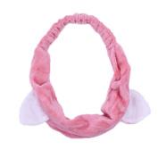1 Pcs Xuxuou Women's Stylish Cute Cat Ear Beauty Makeup Wash Face Hair Band Headband Red / Rose Red / Pink / Dark pink / Grey / White