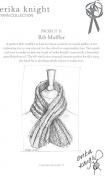 Erika Knight Maxi Wool Knitting Pattern Rib Muffler Super Chunky
