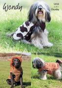 Wendy Dog Coats Mode, Merino & Serenity Knitting Pattern 5959 Chunky