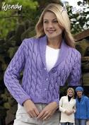 Wendy Ladies Cardigans Traditional Wool Knitting Pattern 5202 Aran