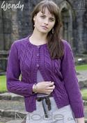 Wendy Ladies Cardigan Mode Knitting Pattern 5517 DK