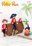 Peter Pan Pirate Play Set & Bunting Knitting Pattern 1268 DK