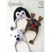 Wendy Family Novelty Animal Hats Crochet Pattern 5708 DK