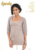 Wendy Ladies Lacy Top Crochet Pattern 5717 DK