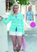 Sirdar Ladies Cardigans Cotton Knitting Pattern 7742 4 Ply