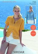 Sirdar Ladies Cardigans Cotton Crochet Pattern 7740 DK
