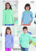 Sirdar Childrens Sweaters Jolly Knitting Pattern 2458 DK