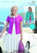 Sirdar Ladies Cardigans Amalfi Knitting Pattern 7780 DK