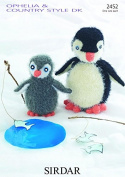 Sirdar Baby & Daddy Penguin Toys Ophelia Knitting Pattern 2452 DK, Chunky