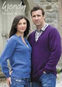 Wendy Mens & Ladies Sweater & Cardigan Merino Knitting Pattern 5591 DK