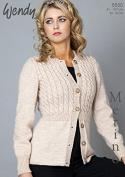 Wendy Ladies Cardigan Merino & Mode Knitting Pattern 5530 DK, Chunky