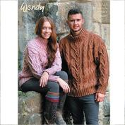 Wendy Mens & Ladies Sweaters Traditional Wool Knitting Pattern 5743 Aran