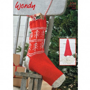 Wendy Christmas Stocking & Gnome Traditional Wool Knitting Pattern 5753 Aran