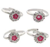 Ghoomar Indian Designer Mid Finger Toe Ring Silver Plated Adjustable Foot Ring