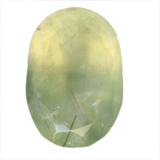 Genuine Prehnite Oval Cabochon Faceted Cut, Stone For Ring, Pendant Stone, Jewellery Making, AG-8471