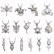 Hollow Locket Cage Pendant Make Your Own Jewellery, 16pcs