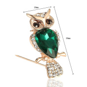 Youkara Alloy Diamond Animals Owl shape Brooch Pin Brooches For Women Girls Jewellery