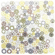 BESTIM INCUK 67 Pack Antique Steampunk Gears Cogs Charms Pendant Clock Watch Wheel for Jewellery Making Supplies, Steampunk Accessories, Craft Projects, Halloween Costume