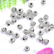 Bodhi2000® 100Pcs Silver Plated Alloy Spacer Beads Jewellery Making DIY Crafts, 5*4MM