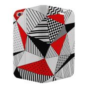 Geometric Red Print Full Flip Case Cover For Apple iPhone 5 - 5S - SE - S6140